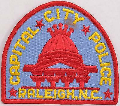 Embroidered Shoulder Patch Capital City Raleigh North Carolina Police Department