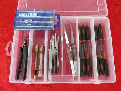 Box SET 8 Precision Craft Hobby Tools Kit & Drills Airfix & Scale Model Makers