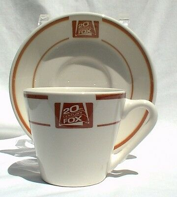20th Century Fox Cup & Saucer Syralite by Syracuse China Movie Collectible 1980s