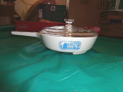 """Corning Ware MW-83-B 6-1/2"""" Colonial House Microwave Browning Dish W/Lid"""