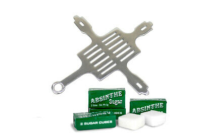 #35 Rectangular French Absinthe Grille & 10 Sugar Cubes -  Free Shipping !!!