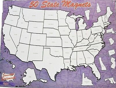 State Magnet Collectors Map Board