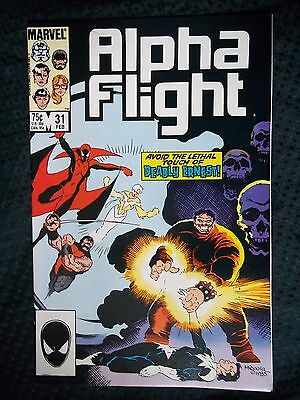 Marvel Comics # 31 1985 ALPHA FLIGHT - AVOID THE LETHAL TOUCH OF DEADLY ERNEST