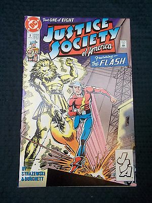 1991 DC Comics JSA Justice Society of America #1 Featuring the Flash