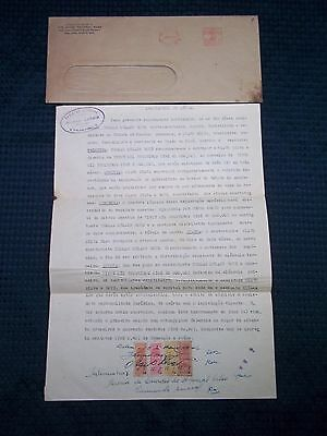 1946 Brazil Official Document with official Stamps