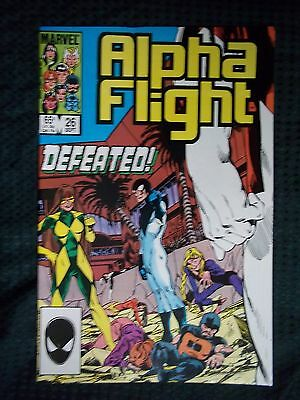 Marvel Comics # 26 1985 ALPHA FLIGHT  - DEFEATED!