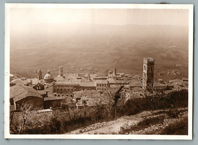 Italia, Assisi, Panorama  Vintage silver print. Italy  Tirage argentique  8,