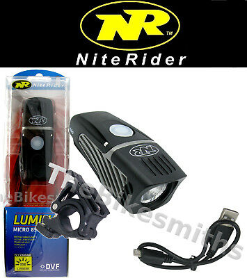 Niterider Lumina Micro 850 Lumens Bike LED Head Light Safe USB Recharge NEW 2019