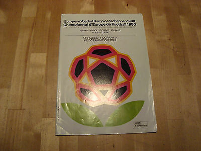 1980 Euro Championship Programme - Belgian and Dutch Issue