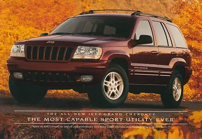 1999 Jeep Grand Cherokee ORIGINAL Large Factory Postcard my2275
