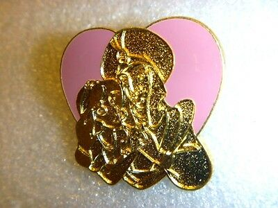 Disney Pins WDW Cast Lanyard Series - Aladdin and Jasmine Heart , Pink/Golden