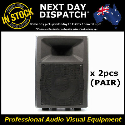 "2 x 10"" Inch PA Active POWERED Professional Speaker + Amplifier Amp Dj Monitor"