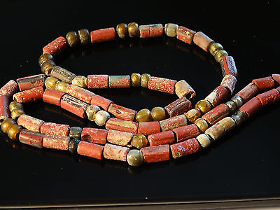 Magnificent Viking necklace. Glass and pasta polychrome beads. ca 7-9 AD.