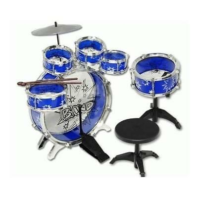 11pc Kids Boy Girl Drum Set Musical Instrument Toy Playset BLUE New