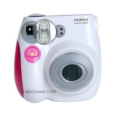 Fujifilm Instax Mini 7S Instant Film Camera (White with Pink trim) #IM7SPINK
