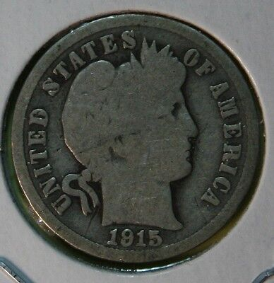 1915 US Barber silver Dime in good Condition   -- Price per Each