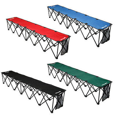 Insta-Bench 6 Seater Portable Folding Sports Bench & Carry Bag - Choose Color