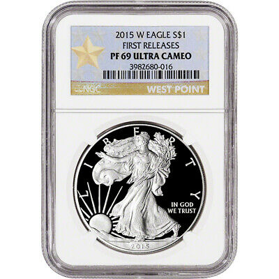 2015-W American Silver Eagle Proof - NGC PF69 UCAM - First Releases - Star Label