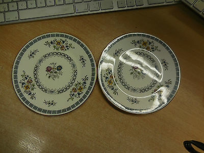 VINTAGE MINTON AVIGNON S 727 BONE CHINA LITTLE PLATES