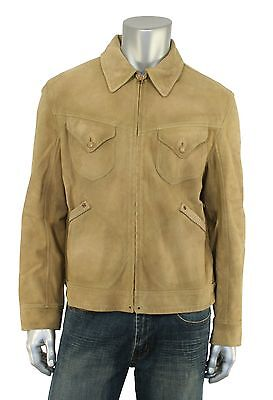 3f1ea37136b  1800 RRL RALPH Lauren Limited Edition Western Suede Leather Shirt ...