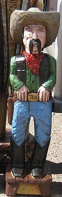 Frank Gallagher Carved 6' Wood Cigar Store Indian *Cowboy--ALL SIZES AVAILABLE