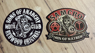 Sons Of Anarchy Redwood Original Reaper & Men Of Mayhem Stickers S.O.A. FX