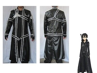 Sword Art Online Aincrad Kirito Anime Cosplay Costume halloweeen XL