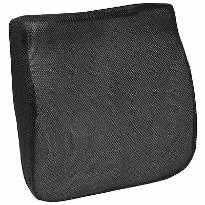 Black Mesh Memory Foam Car/van Lower Back/seat Base Cushion Lumbar Support/wedge