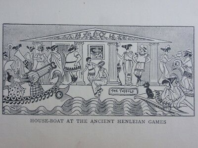 Boating Theme HENLEY HOUSE BOAT ANCIENT HENLEIAN GAMES Antique Punch Cartoon