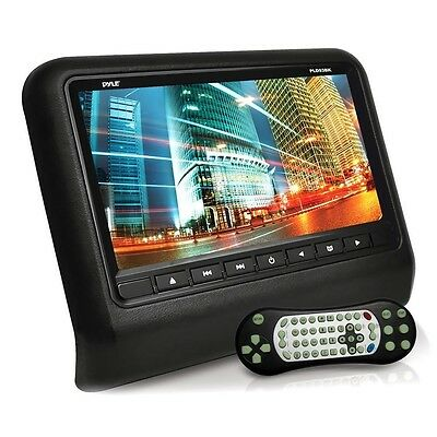 "NEW Pyle PLD93BK Headrest 9"" Video Monitor w/Built-in DVD/CD Player & HDMI Port"