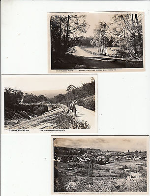Beechworth Victoria Australia group of 6 postcards various scenes 2 Rose type
