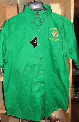 MENS LARGE ST JOSEPH K OF C KNIGHTS OF COLUMBUS SHIRT NEW NWT FREE S/H