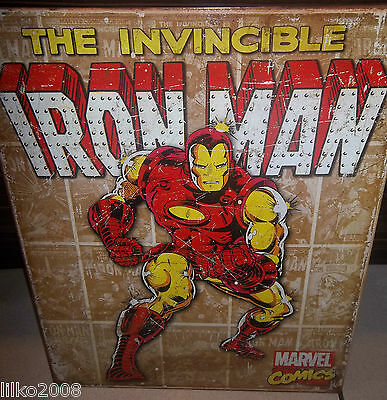 AMAZING SPIDERMAN //MARVEL COMICS;ANTIQUE-STYLE METAL WALL SIGN 40X30cm HEROES