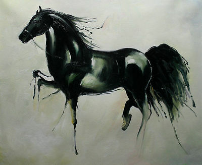 Modern Handmade Horses oil painting on canvas abstract art series no frame