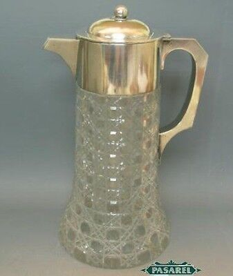 Art Deco Silver Claret Jug Wine Decanter Vienna Ca 1920