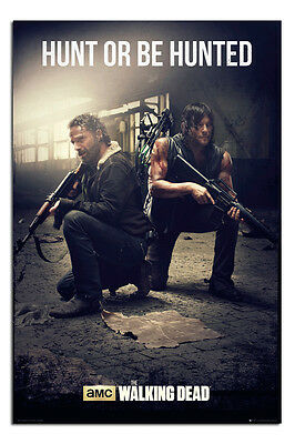 The Walking Dead Hunt Or Be Hunted Large Poster New - Maxi Size 36 x 24 Inch