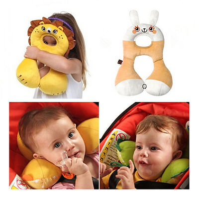 Baby Child Head Neck Support Headrest Travel Car Seat Pillow Cushion 1-4 Year UK