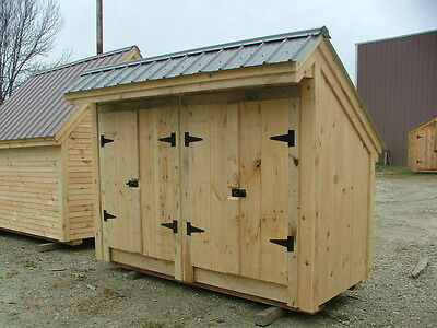 Garbage Shed 4x10 DIY Plans - Garbage/Storage/Home Improvement DIY Project Plans