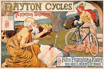 """1898 """"Dayton Cycles"""" Vintage Style Cycling Poster - 20x30"""