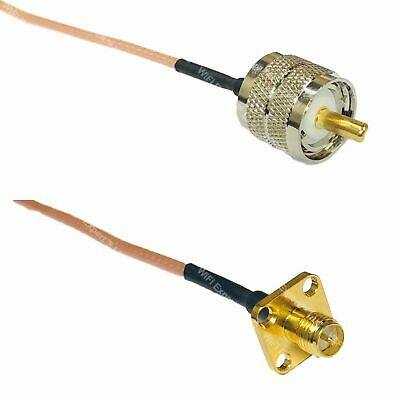 USA-CA RG316 SMA FEMALE to RP-SMA MALE Coaxial RF Pigtail Cable