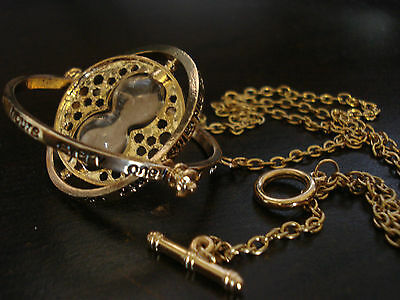 Harry Potter TIME TURNER Replica Necklace - 18K C GOLD PLATED Hour Glass Pendant