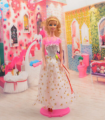 2014 new style Fashion Handmade princess  party Clothes dress For Noble Doll D04