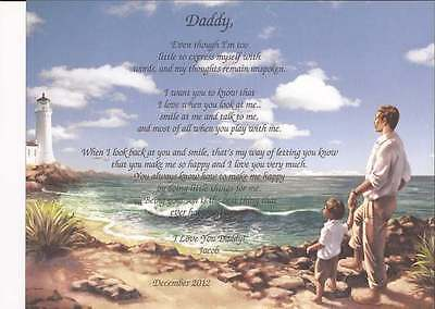 Daddy Personalized Poem From Son Birthday Christmas Father's Day Gift