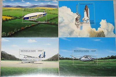 GUINEA 1998 Block 559-62 S/S 1493-96 Aircrafts Flugzeuge Airplanes Planes MNH