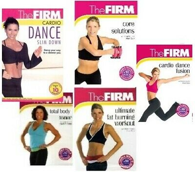 (5) THE FIRM WORKOUTS TIGHT BUNS * CORE ABS *TOTAL BODY * FAT BURNING+Free Bonus