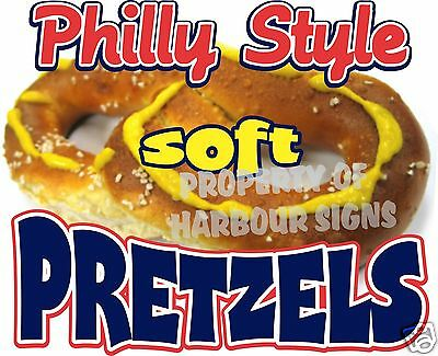 Philly Style Soft Pretzels Food Truck Concession Stand Restaurant Decal 36""