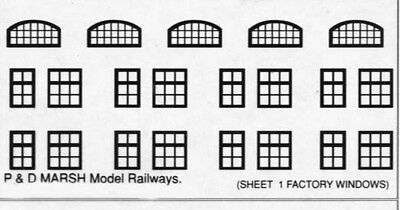 P&D Marsh N Gauge n Scale B581 facory windows (63) ready to use