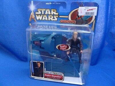 19.243 Star Wars Saga DELUXE FIGURE ANAKIN SKYWALKER FORCE FLIPPING ATTACK MOC