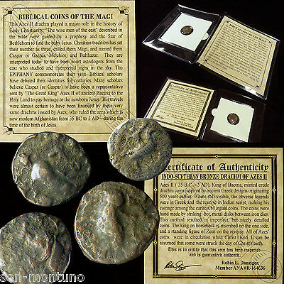 (1) Ancient  BIBLICAL COIN OF THE MAGI  Persian Roman Bible Greek Jesus 35BC-5AD