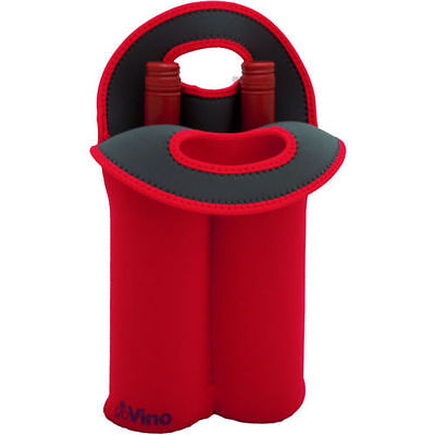 D.line Wine Bottle Bag Go Vino - Red - Double